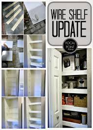 Closet Wire Shelf Focal Point Styling Style Solution Diy Budget Pantry Update