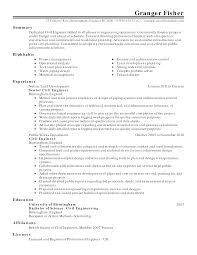 Mechanical Engineering Student Resume  resume template engineering     Sample Resume  Resume Senior Civil Engineer Sle Job