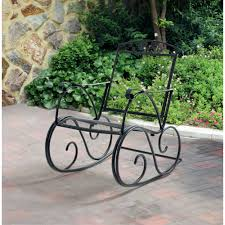 mainstays jefferson wrought iron porch rocking chair walmart com
