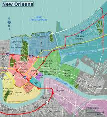 New Orleans Downtown Map the big easy bean city connection just another wordpress com site