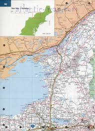 New York State Map by Northeast New York State Map