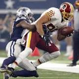 Jordan Reed leaves game vs. Cowboys with left shoulder injury