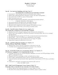 Media Sales Executive Resume  sample template template  great fast