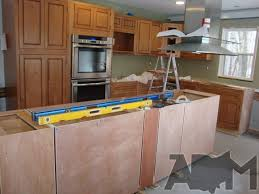 How To Level Kitchen Cabinets Installing Kitchen Island Cabinets