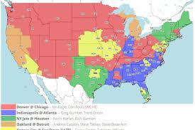 Peyton Colorado Map by Denver Broncos Vs Chicago Bears Tv Broadcast Map Nfl Week 11