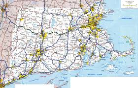 large detailed roads and highways map of massachusetts state with