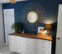 Navy Blue Wall Bedroom Best Diy Sunburst Mirror I U0027ve Seen I Think This Might Be The One