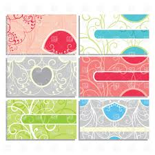 Business Card Eps Template Set Of Cute Ornate Business Cards Vector Image 20279 U2013 Rfclipart