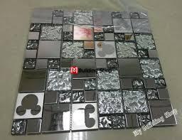 3d silver metal mosaic wall tile kitchen backsplash smmt108
