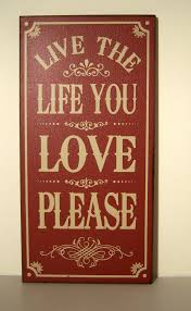 vintage stlye wooden wall plaque hanging sign u0027live the life you