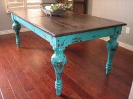 European Dining Room Furniture European Paint Finishes Rustic Turquoise Dining Table I Could