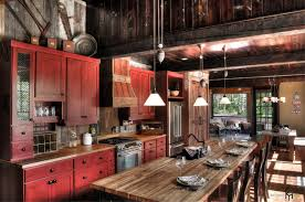 Simple Country Kitchen Designs Rustic Red Kitchen Cabinets Zamp Co