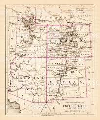 Map Of Utah And Colorado by Utah Arizona New Mexico Colorado Map 1881 Stock Vector Art