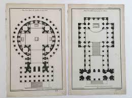 Plan Set 1757 Architecture Plans Antique Engravings Original Antique