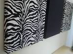 Zebra print fabric wall hanging set wall decor by MadMosaics