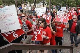 Education supporters arrive at the Capitol for a Parent Teacher Association rally in Tallahassee  Florida  The Atlantic