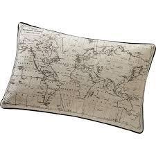 maison du monde coussin de sol coussin carte écru et noir l 50 x h 30 cm leroy merlin