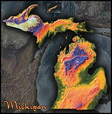 Detroit Michigan Map by Topographical Map Of Michigan Michigan Map