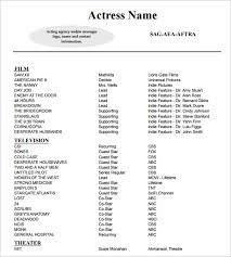 Resume For Nanny Job by 10 Acting Resume Templates Free Samples Examples U0026 Formats