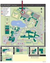 Chicago Parking Map by Directions And Map Saint Xavier University
