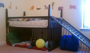 i turned my son u0027s crib into a toddler loft bed with only an allen