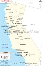 Amtrak Capitol Corridor Map by Cities In California Map Of California Cities