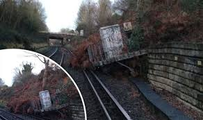A landslide caused travel chaos at Barnehurst station in      Daily Express