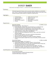 Resume Sample For First Job by Unforgettable Apprentice Plumber Resume Examples To Stand Out