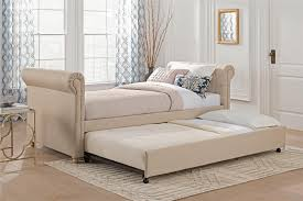 Linen Daybed Dhp Furniture Sophia Upholstered Daybed And Trundle