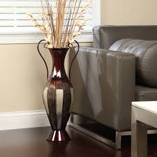 elegant expressions by hosley 2 tone metal vase with handles