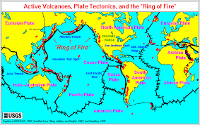 Tectonic Plate Map Volcano Information