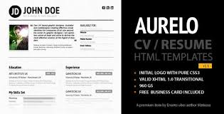 Premium and Free Resume Templates happytom co