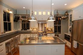 Kitchen Island With Chopping Block Top Granite Countertop Kitchen Plate Rack Cabinet Brick Subway Tile