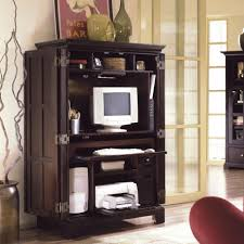 Desk Armoire Furniture Traditional Wooden Computer Armoire With Computer And Frame