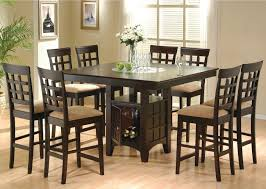 lianne acacia cottage style black finish counter height 9piece