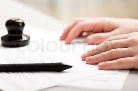 Human business men hand pen writing paper document   Stock Photo     Colourbox Human business men hand pen writing paper document  stock photo