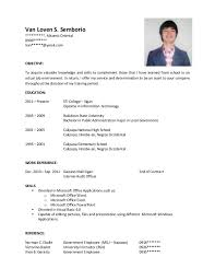 Best College Resumes by Resume Examples For College Students Gallery For College Student