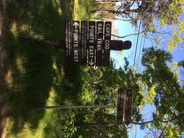 the beginning of the cape cod rail trail