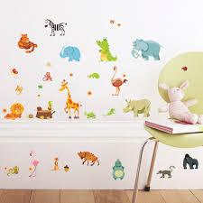 Baby Home Decor Aliexpress Com Buy Jungle Wild Animals Diywall Sticker For Kids