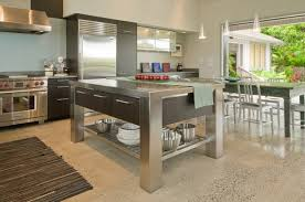 stainless steel kitchen island with drawers kitchen design