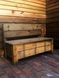 Plans To Build A Storage Bench by Plans For Deck Bench Which Allows Storage Space For Seat Cushions