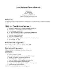 Sample Attorney Resume Solo Practitioner by Personal Injury Legal Assistant Resume Sample