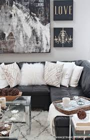 Living Room Design Ideas With Grey Sofa Best 25 Black Leather Couches Ideas On Pinterest Black Couch