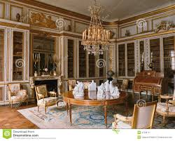 wooden room with furniture at versailles palace editorial photo