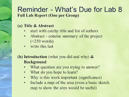 How to write Lab Reports  Central America Internet Ltd