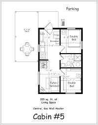 2 bedroom bath cabin floor plans