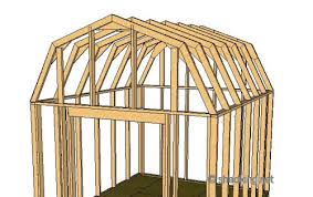 How To Build A Storage Shed Plans Free by Shed Roof Gambrel How To Build A Shed Shed Roof