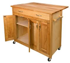 catskill mid sized kitchen island cart w drop leaf