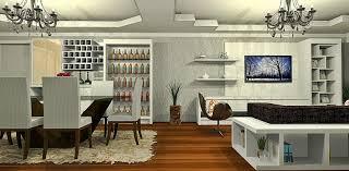 bar in living room living room