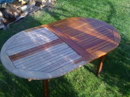 Table Pliante Leclerc by Repeindre Salon De Jardin En Teck U2013 Qaland Com